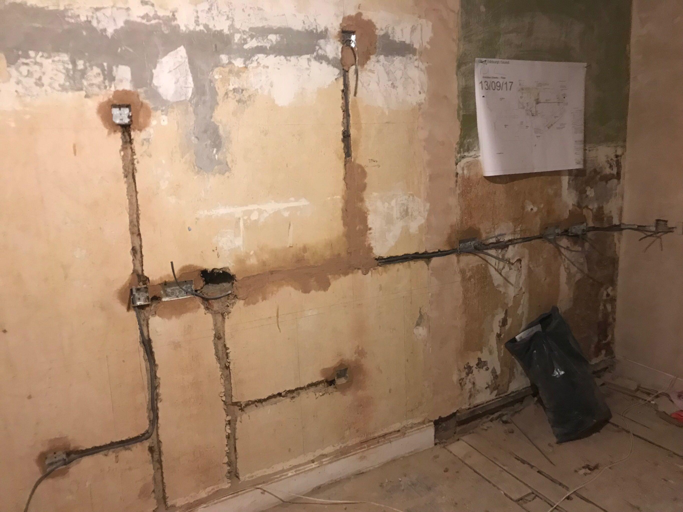 Electrician's work in progress