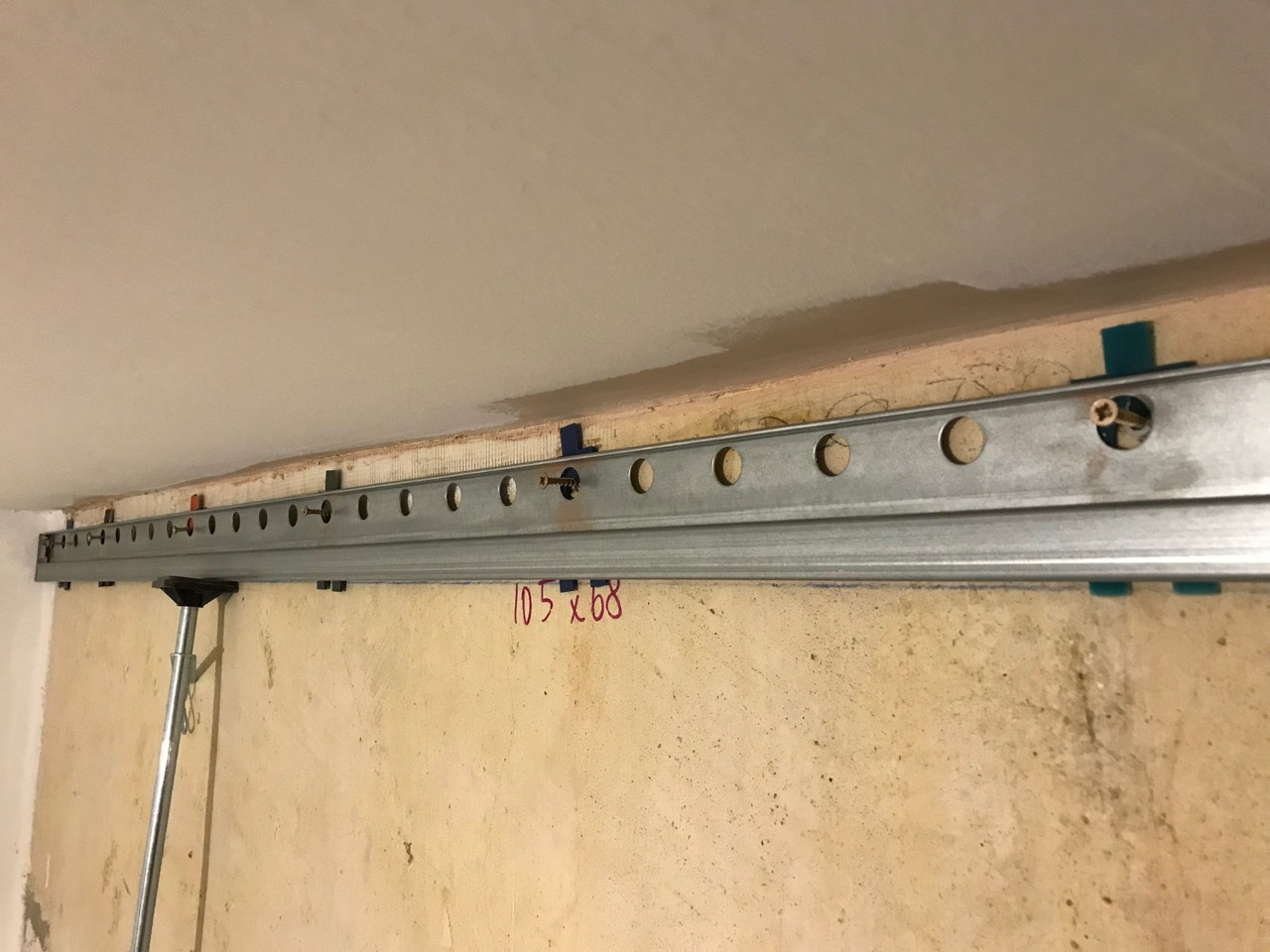 IKEA METOD rail with screws and spacers