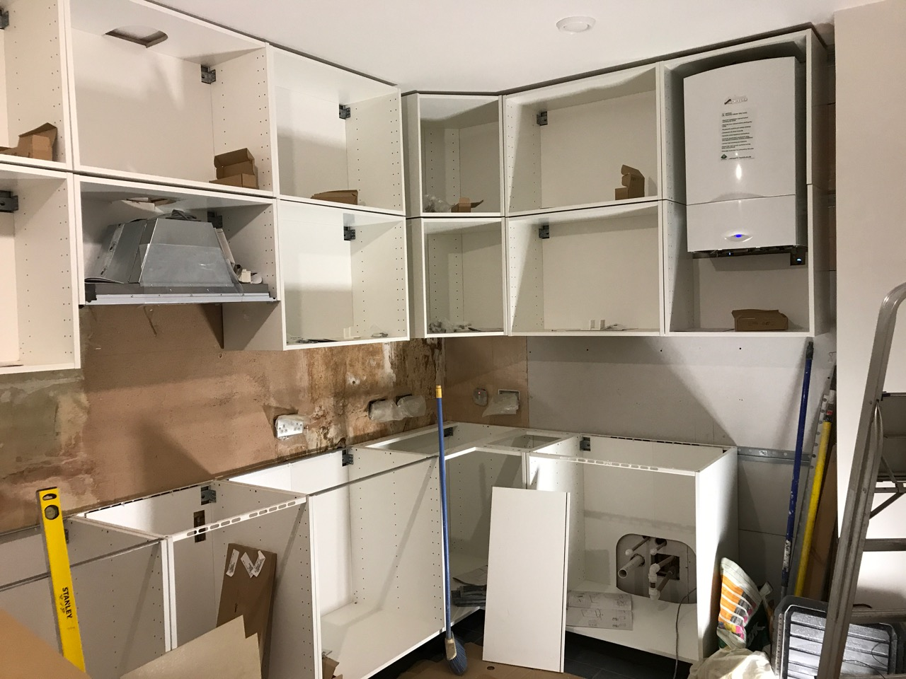 All units fitted in a kitchen, without doors